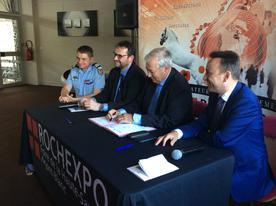 Signature de la convention de labellisation « securi-site » de Rochexpo