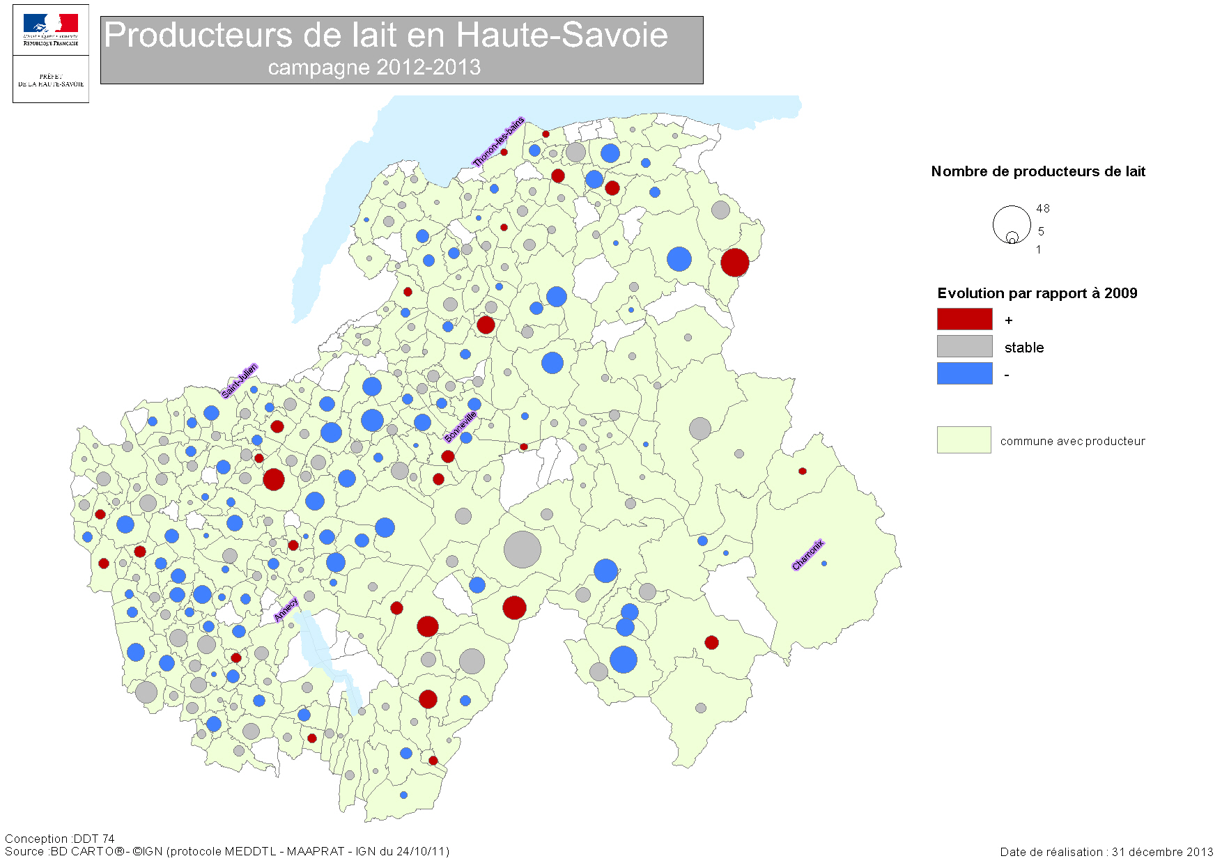 Carte Producteurs Lait 2013