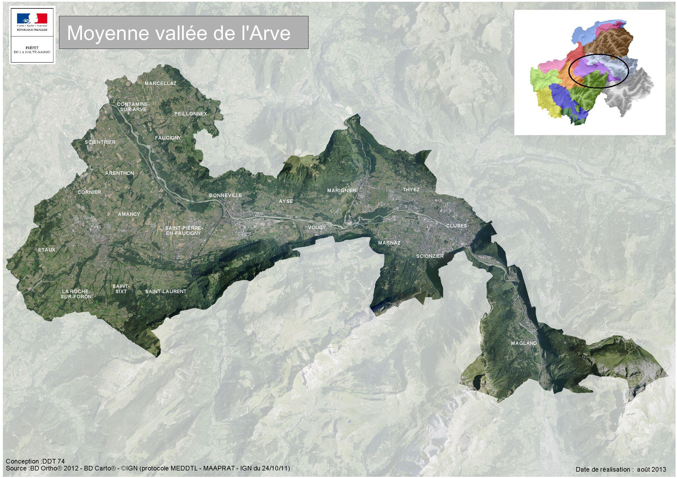 vallée de l arve carte Moyenne vallée de l'Arve / Territoires agricoles / Observatoire
