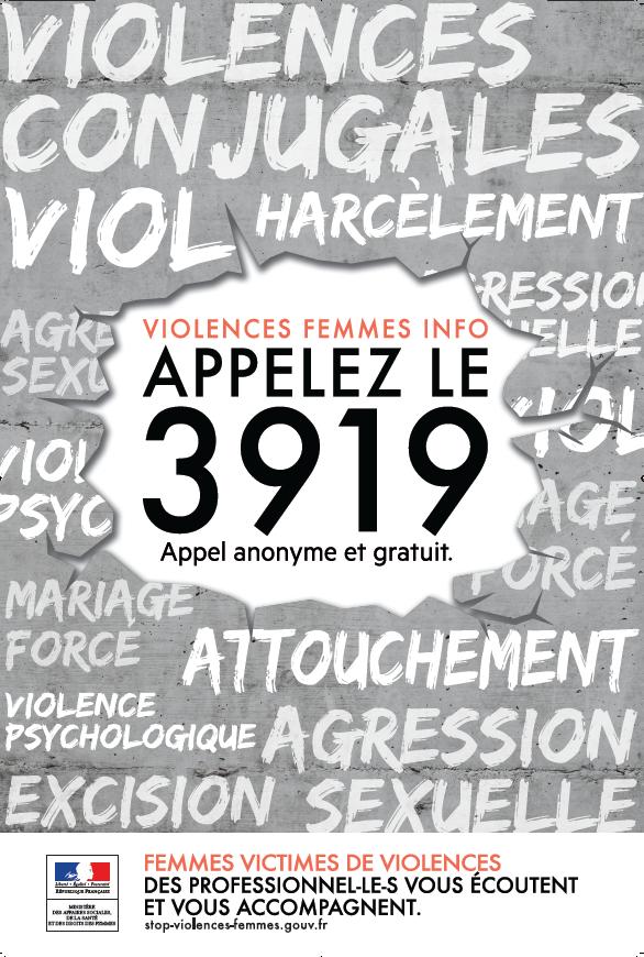 Affiche Pour La Journée De La Femme 25 novembre : journée mondiale pour l'élimination des violences à l